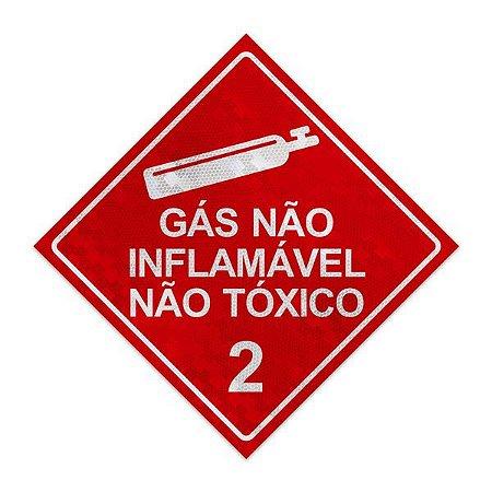 Placa para caminhão - Gás não inflamável não tóxico 2 - 30 x 30 cm ACM 3 mm