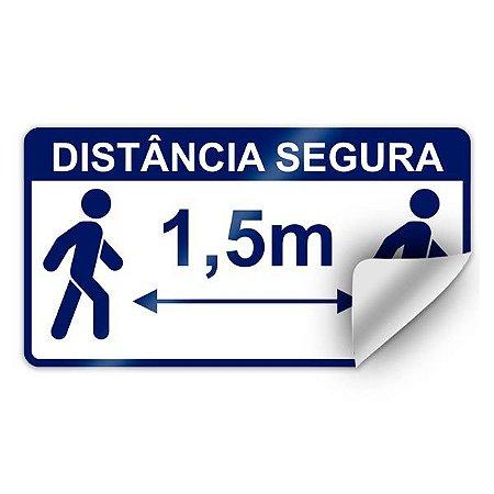 Adesivo para chão - Distância segura 1,5 metros - 28 x 15 cm