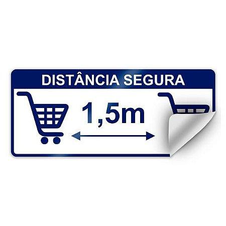 Adesivo para chão - Distância segura 1,5 m - 35 x 15 cm