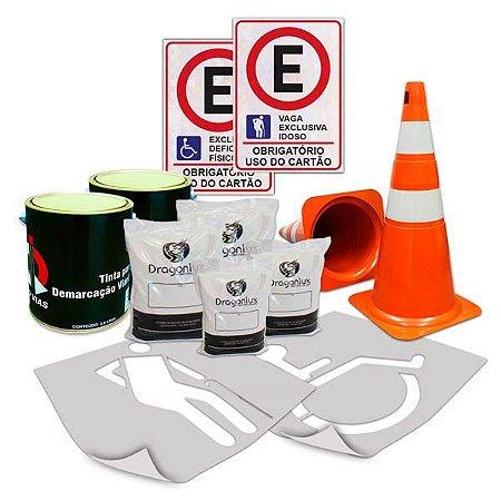 Kit para demarcação de estacionamentos - Comércio