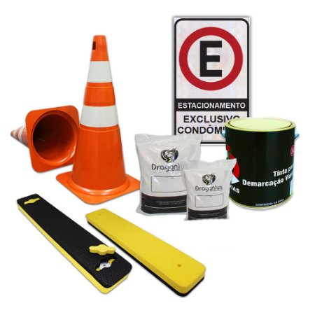Kit para demarcação de estacionamentos - Condomínio