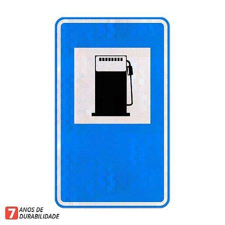 Placa Abastecimento (posto de combustível) - Serviços auxiliares (SAU-09)