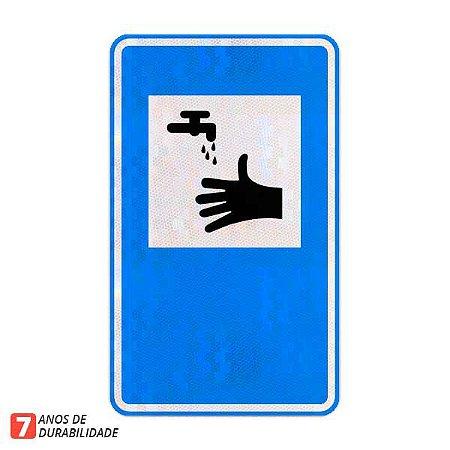 Placa Serviço sanitário - Serviços auxiliares (SAU-11)