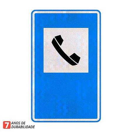Placa Serviço telefônico - Serviços auxiliares (SAU-6)