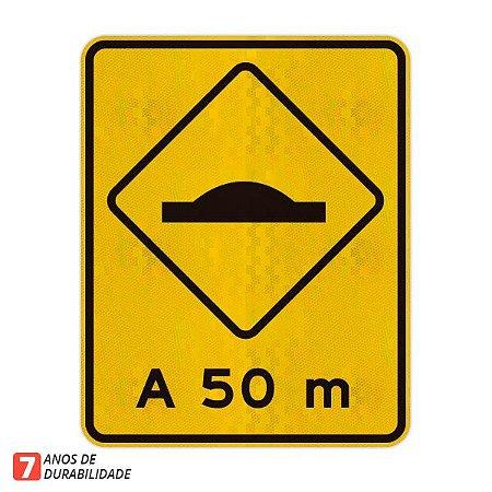 Placa saliência ou lombada A-18 (A 50 m)