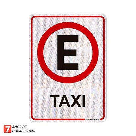 Placa Exclusivo Táxi (50 x 70 cm)