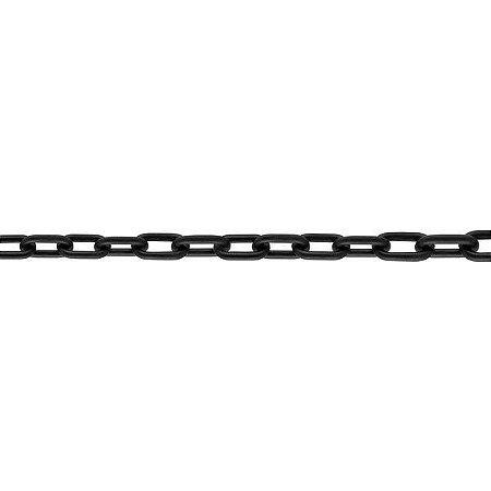 Corrente Plástica Preto 10 metros - Elo 6 mm - Vonder