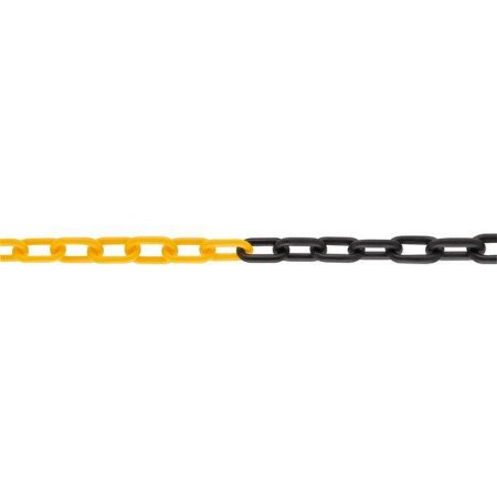 Corrente plástica Zebrada 10 metros - Elo 6 mm - Vonder