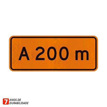 Placa de Obras - A 200 metros