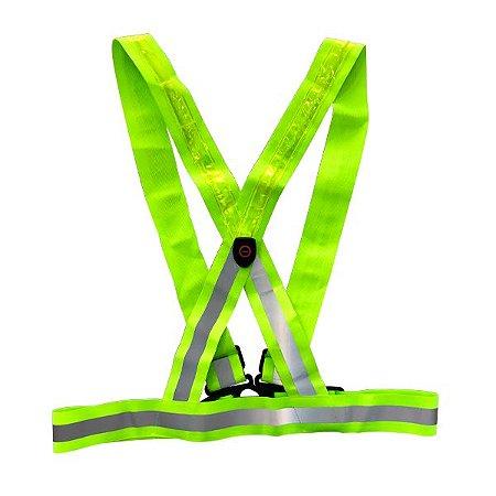 Colete Verde de Led Tipo X