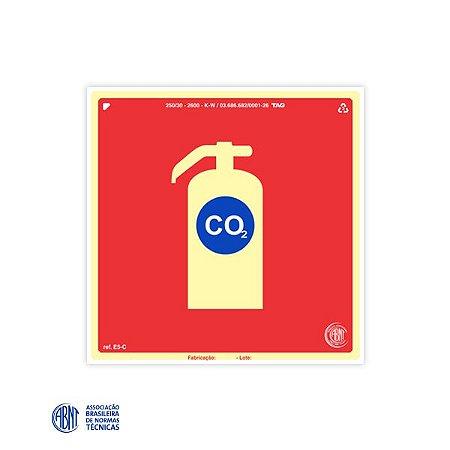 Placa Fotoluminescente - E5-C CO2 - 20 x 20 cm
