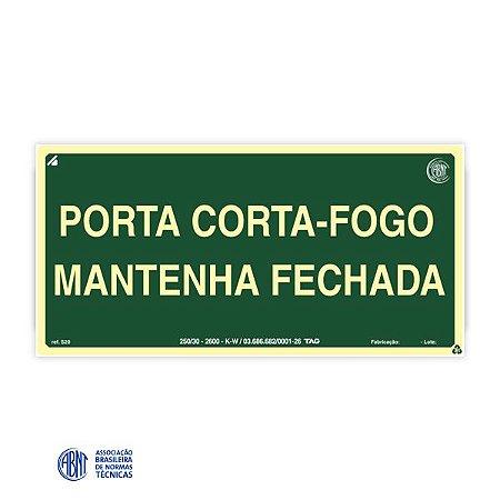 Placa Fotoluminescente - S30 Porta Corta-fogo - 15 x 30 cm