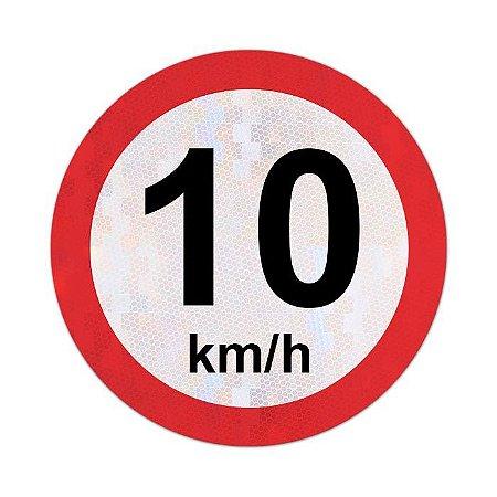 Placa velocidade máxima permitida 10km/h - R-19