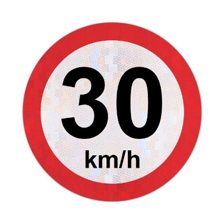 Placa velocidade máxima permitida 30km/h - R-19