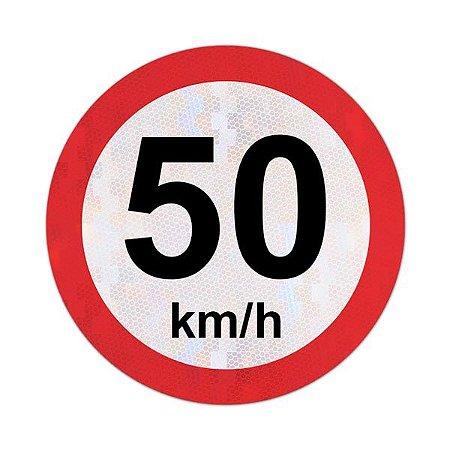 Placa velocidade máxima permitida 50km/h - R-19