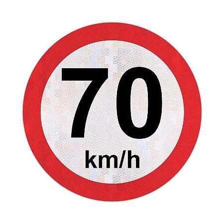 Placa velocidade máxima permitida 70km/h - R-19