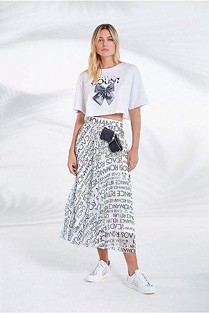 Blusa de Malha com Silk Bordado Make It