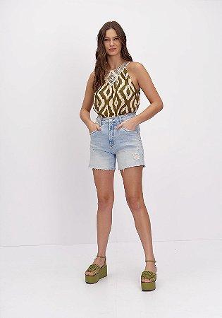 Bermuda Jeans Comfort High