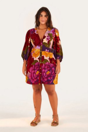 Vestido Curto Sonho de Chita