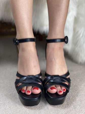 Sapato Salto Alto Quadrado 35