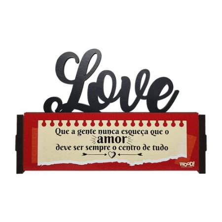 Nome Decorativo - (Love) Centro de tudo