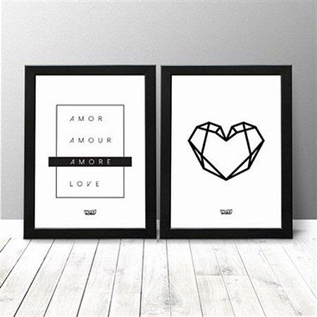 Kit Quadro - Amor + Coração