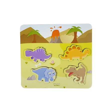 Quebra-Cabeça Encaixe - Dinossauros