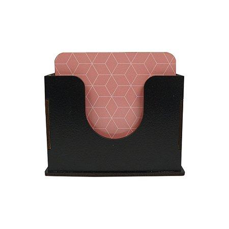 Porta-Copos Quadrado - Rosa Geométrico