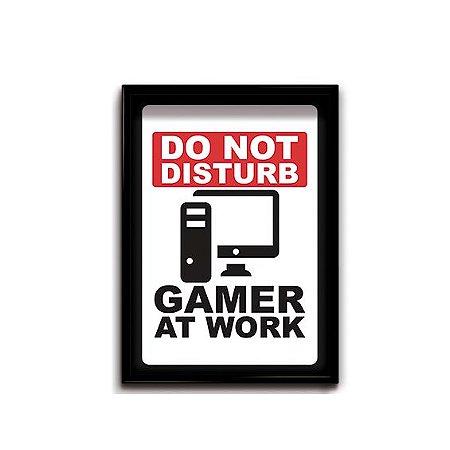 Quadro Decorativo Gamer Work