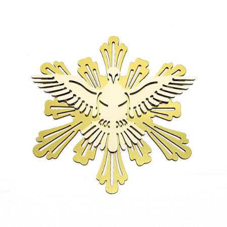 Aplique Espírito Santo Dourado