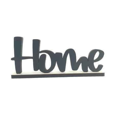 Nome Home Decorativo com Base - Preto