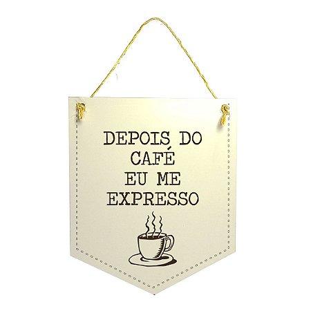 Plaquinha Xilogravura - Depois do  Café