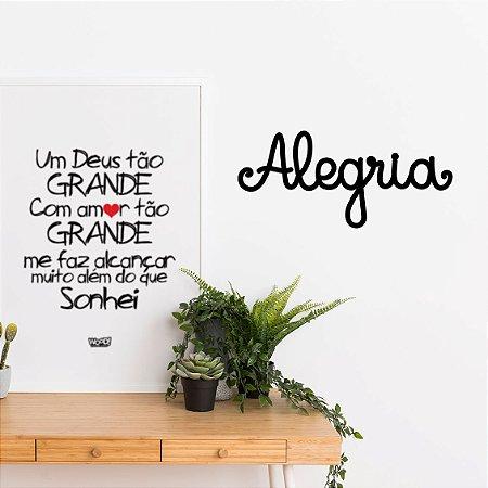 Palavra Decorativa em MDF - Alegria
