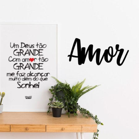 Palavra Decorativa em MDF - Amor