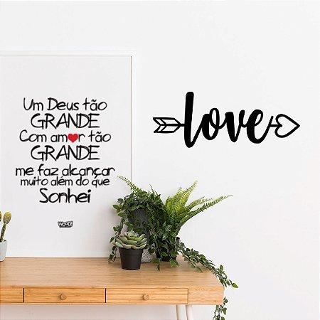 Palavra Decorativa em MDF - Flecha Love