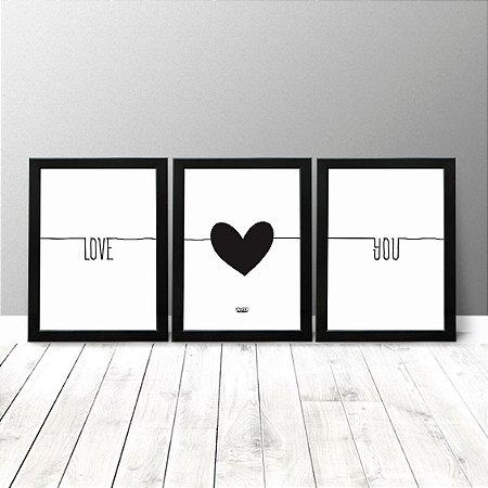 Kit Quadros Criativos - Love