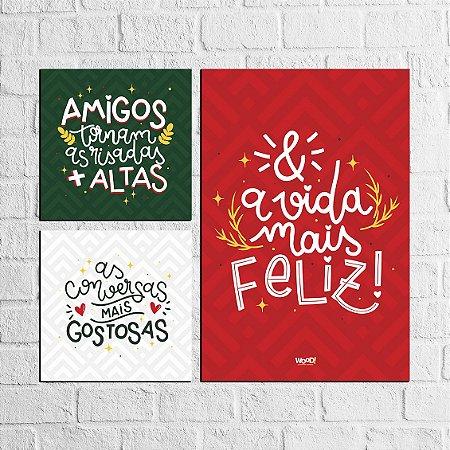 Plaquinha Decorativa - Kit Amigos