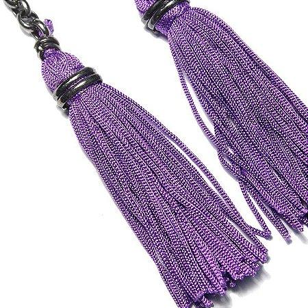 Brinco Tassel Purple
