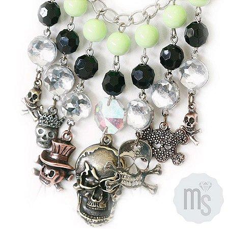 Colar Lime Skull