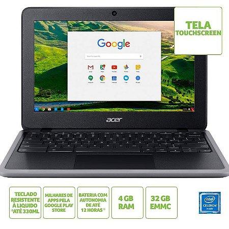 Chromebook Acer C733T-C2HY Intel Celeron N4020 4GB 32GB eMMC 11.6' Chrome OS