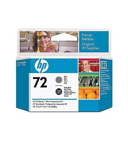 Cabeça de Impressão HP 72 Cinza e Preto Foto PLUK