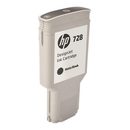 Cartucho de Tinta HP 728 Preto Fosco PLUK 300 ml