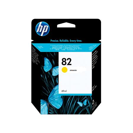 Cartucho de tinta HP 82 Amarelo PLUK 69ml