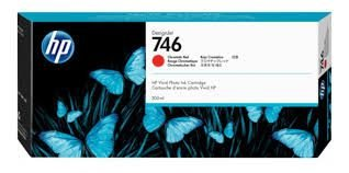 Cartucho de tinta HP 746 Vermelho Cromático PLUK 300ml