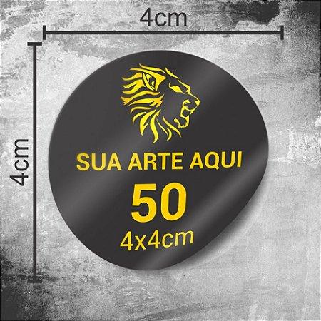 50 Adesivos Personalizados 4x4cm Redondo