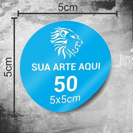 50 Adesivos Personalizados 5x5cm Redondo