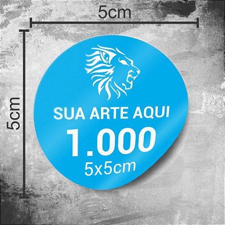 1.000 Adesivos Personalizados 5x5cm Redondo