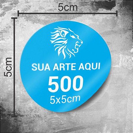 500 Adesivos Personalizados 5x5cm Redondo