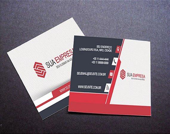 500 Mini Cartões de Visita 4x4 (Frente e Verso Coloridos) + VERNIZ LOCALIZADO