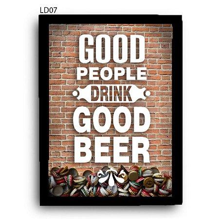 Quadro Tampinhas Good People Good Beer LDQT02